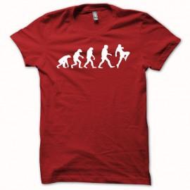 Tee shirt boxe thaï muay-thai évolution blanc/rouge mixtes tous ages