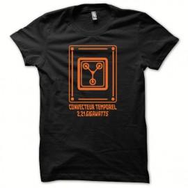 Tee shirt convecteur temporel spécial édition retour vers le futur orange/noir mixtes tous ages