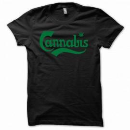 Tee shirt cannabis weeds canabis vert/noir mixtes tous ages