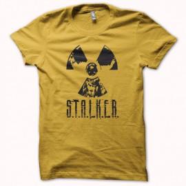Tee shirt S.T.A.L.K.E.R jaune/noir mixtes tous ages
