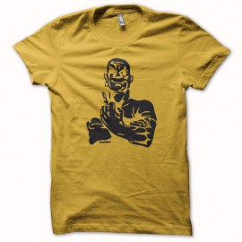 Tee shirt Monsieur Propre Fuck off jaune mixtes tous ages