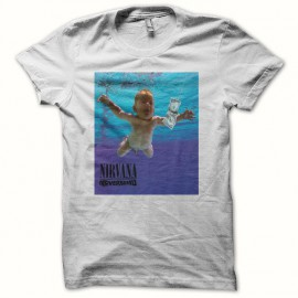 Tee shirt Nirvana Nevermind smell like teen spirit blanc mixtes tous ages