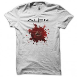 Tee shirt Alien xénomorphe chestbuster blanc mixtes tous ages
