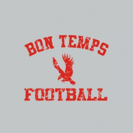 Tee shirt True blood Université bon temps football rouge/gris