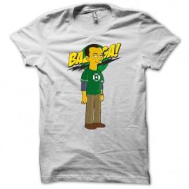 Tee shirt Sheldon cooper parodie la théorie du big bang et bazinga blanc mixtes tous ages