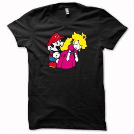 Tee shirt Mario bros fuck princess peach parodie nintendo noir mixtes tous ages