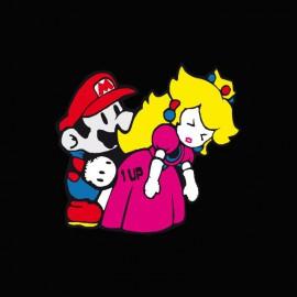Tee shirt Mario bros fuck princess peach parodie nintendo noir
