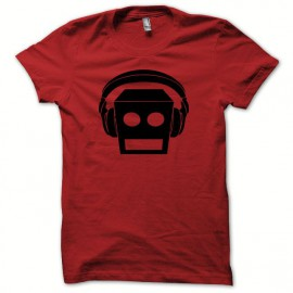 Tee shirt LMFAO robot Party Rock Anthem every day i m shufflin rouge/noir
