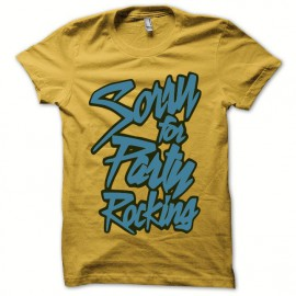 Tee shirt LMFAO Party Rock Anthem every day i m shufflin jaune