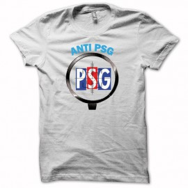 Tee shirt Anti PSG football noir/blanc mixtes tous ages