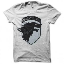 Tee shirt Le Trône de fer rare édition Game of thrones blanc mixtes tous ages