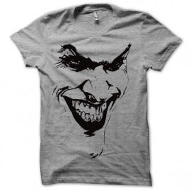 Tee shirt  Joker le batman avec artwork gris mixtes tous ages