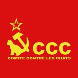 Tee shirt Les Nuls Comité Contre les Chats CCC rouge