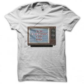Tee shirt  Les Nuls agad la té'évision é pis dors blanc