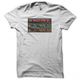 Tee shirt retour vers le futur représentant le cadran temporel blanc mixtes tous ages