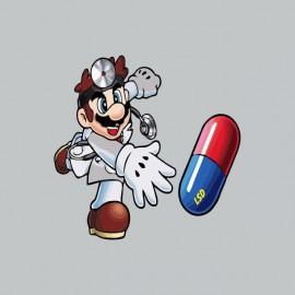 Tee shirt Mario docteur lsd gris