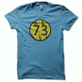 Tee shirt The Big Bang Theory sheldon 73 bleu mixtes tous ages