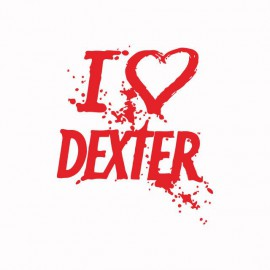 Tee shirt  love DEXTER rouge/blanc