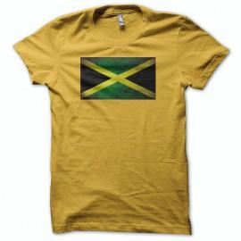 Tee shirt drapeau jamaique vintage jaune mixtes tous ages