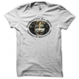 Tee shirt parodie L'exorciste Association des Mères suceuses de Bites en Enfer blanc mixtes tous ages