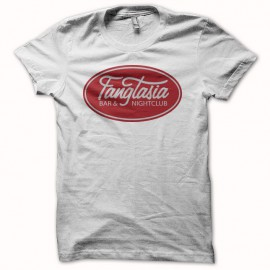 Tee shirt True Blood logo fangtasia blanc