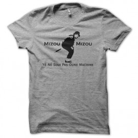 Tee shirt  de Les Nuls Mizou Mizou parodie Johnny Walker gris