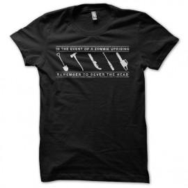 Tee shirt zombie killer toolkit noir mixtes tous ages