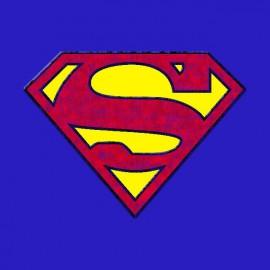 Tee shirt Superman vintage bleu