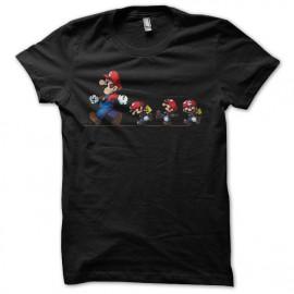 Tee shirt Mario bros evolution noir mixtes tous ages