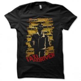 Tee shirt Taxi Driver yellow cabs noir mixtes tous ages