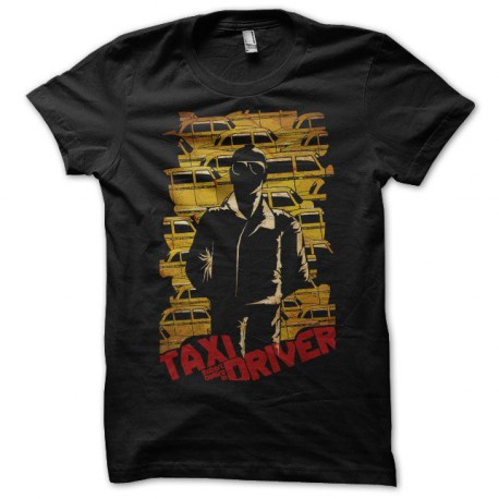 Tee shirt Taxi Driver yellow cabs noir