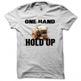 Tee shirt Poker one hand hold up blanc