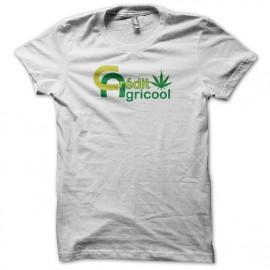Tee shirt rasta Crédit Agricool blanc mixtes tous ages