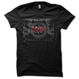 Tee shirt ACDC black ice Rouge/Noir mixtes tous ages