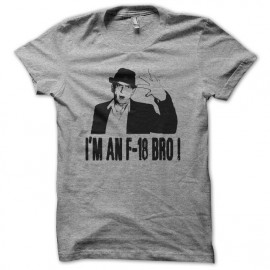 Tee shirt Charlie Sheen I'm an F-18 Bro gris mixtes tous ages