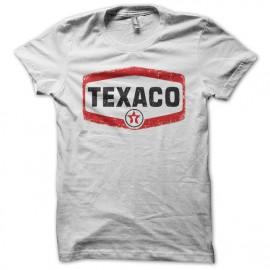 Tee shirt Texaco vintage blanc mixtes tous ages