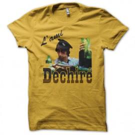 Tee shirt  Les Nuls L'ami déchiré jaune