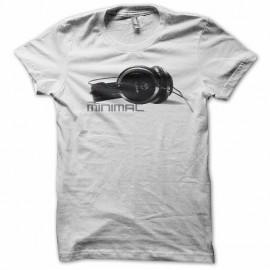 Tee shirt minimal headphone akg blanc mixtes tous ages