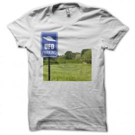 Tee shirt UFO Parking blanc mixtes tous ages