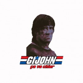 Tee shirt GI Joe parodie Rambo ça va chier blanc
