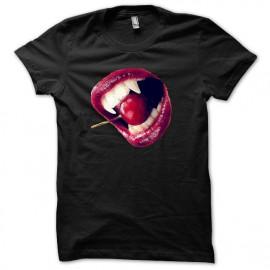 Tee shirt vampire sexy morsure noir mixtes tous ages