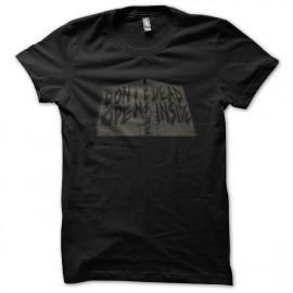 Tee shirt Walking Dead, ne pas ouvrir mort dedans noir mixtes tous ages