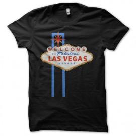 Tee shirt Poker Welcome to fabulous Las Vegas noir mixtes tous ages