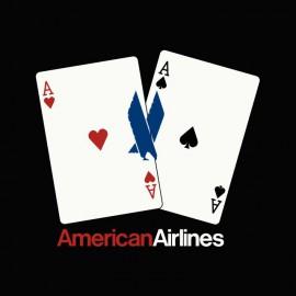 Tee shirt Poker Aces pair American Airlines noir