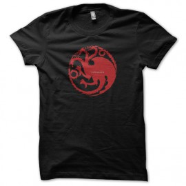 Tee shirt Le Trône de fer tee shirt Targaryen Game of thrones noir mixtes tous ages