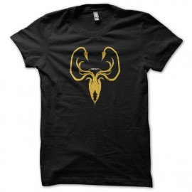 Tee shirt Le Trône de fer tee shirt Greyjoy Game of thrones noir mixtes tous ages