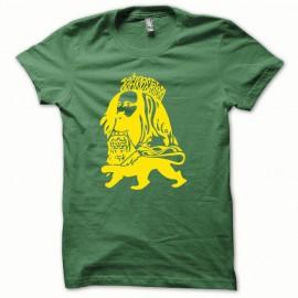 Tee shirt Rastafarl jaune/vert bouteille mixtes tous ages