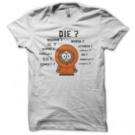 Tee shirt South Park parodie Kenny international blanc mixtes tous ages