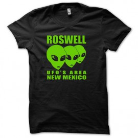 Tee shirt U.F.O Roswell vert/noir mixtes tous ages