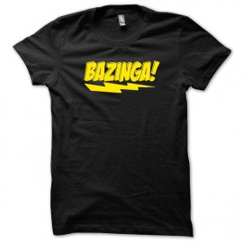 Tee shirt Sheldon Cooper Bazinga version originale jaune/noir mixtes tous ages